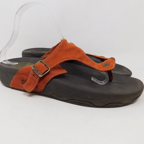 Skechers Orange Flip Flop Tone Up